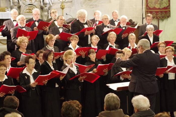 concert de l'ensemble choral du Léon effectué le 4 janvier, organisé par le Rotary club de Morlaix.